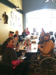 NC AgrAbility farmers enjoyed lunch together and learning about new resources.